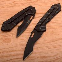 Fox Da35 óxido blackl folding lâmina facas 58hrc camping caça bolso utilitário ferramentas de ferramentas edc