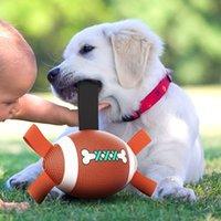 Giocattolo interattivo PET PRODOTTI ACQUA PU HOUS PU Acqua galleggiante Dogs Dogs Rugby Ball Dog Giocattoli da calcio con tab tabella facile WLL929