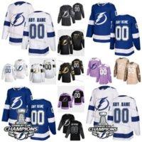 Tampa Bahy Lightning Steven Stamkos Hockey Jersey Johnson Point Kucherov Hedman Golden Limited Número Número Número de portero Corte de portero Hombres Mujeres Mujeres Jóvenes