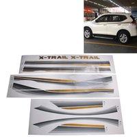 WTYD Çıkartmalar için 3 Adet SUV Vücut Dekoratif Şerit Marka Araba Honda CRV Nissarl X-Trailqashqaimurano Serisi için Shining Sticker Streamline