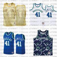 Männer Frauen Jugend Basketball DallasMavericks.41 Dirk.Nowitzki 2010-11 Hardwoods Classics Retro Jersey