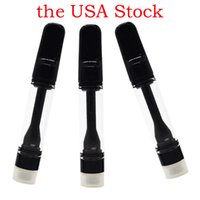 the USA Stock Black Full Ceramic Vape Cartridges Thick Oil Delta 8 Atomizers Disposable Vapes Pens 1ml Carts 0.8ml 510 Thread Battery Custom Empty Packaging