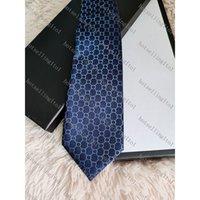 Lettre des hommes Cravate Cravate Cravate Soie Petites lettres Jacquard Parti Business Mariage Mode tissé Mode avec boîte G32