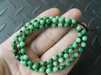 10st Natural Jade Jadeite Pärlor Halsband String Cord Rope for Pendant 23 inche