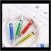 Novedad jeringa bolígrafo moda estudiante pluma regalos promocionales bolígrafo para hospital médico enfermera médico w7168 hcttb 3kqof