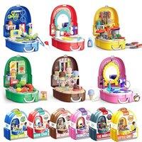 Niños Simulación Maquillaje Joyería Juego Doctor Herramientas Supermercado Maleta Maleta Cocina Vajilla Play Kits Kits Kids Toys Girls Boys Game