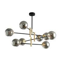 Lâmpadas pendentes Bolhas Candelabro para sala de estar Quarto Cozinha Preto Indoor Home Brilho Suspenso Luminária