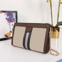 Damen Lederkupplung Messenger Bag Abendkleid Mode Classic Kette Damen One-Schulter tragbar