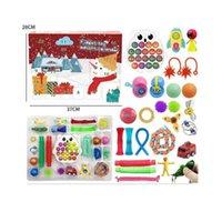 Factory Outlet Christmas decoration 24pcs Set Fidget Toys Advent Calender Blind Boxes Simple Dimple Decompression Toy Pu