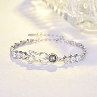 520 projection Bracelet women's S925 Sterling Silver Korean simple jewelry Valentine's Day gift