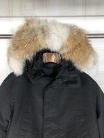 2021 Inverno Giacca Down Piumino Top Quality PUFFER PUFFER Giacche d'oca Big Real Lupo Pelliccia con cappuccio Cappuccio caldo Parka DOODOUNE HOMME Cappotto esterno