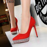 BigTree Shoes For Women 2021 Bombas Crystal High Heels Platform Tacones puntiagudos Tacones Caussure Vestido
