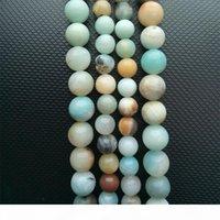 """Branelli sciolti di pietra Frost Frost Multicolor Amazonite Branelli in pietra naturale 15 """"2,3,60,10,12mm perline per la creazione di gioielli collana fai da te"""