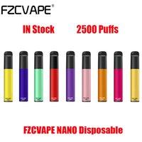Authentic FZCVAPE NANO Disposable Kit E Cigarettes Device 2500 Puffs 1000mAh Battery 6ml Prefilled Pod Cartridge Vape Pen VS Bang XXL Max Puff Plus Genuine