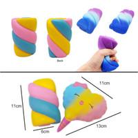 Vent Squeeze Dekompression Spielzeug Squishy Simulation Baumwolle Candy Slow Rebound PU Lutscher Twist Rainbow Candy