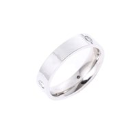 Brand Designer 316L Titanium Steel Ring Love Zircon Men and Women Band rings Jewelry for lovers couple wedding gift US Size (5-11)