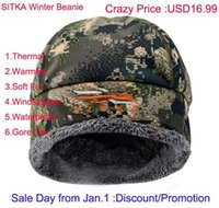 Discount 2021 Winter Men Sitka Hunting Beanie Camouflage Windstopper Soft Fur Warmest Hat Man Cap One Size Fit All1