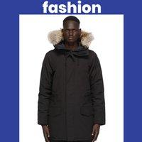 Лучшие куртки Мужская пуховик пуховики с капюшоном волка толстого пальто мужчины высокое качество утка верхняя одежда перья Parka классический теплый хлопок утолщенный