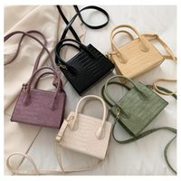 Wallets Mini Crossbody Bags Solid Color PU Leather Women 2021 Summer Lady Shoulder Handbags Female Simple Totes