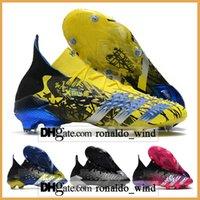 حقيبة الهدايا رجالي أحذية كرة القدم عالية الكاحل المفترسة Freak.1 FG Firm Cleats Freak 21 أحذية كرة القدم في الهواء الطلق