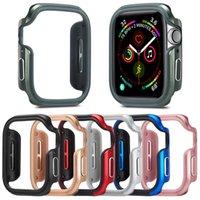 حافظة سبائك الألومنيوم ل Apple Watch 4 5 6 SE 44mm 40mm حالة ل iwatch الإطار المعدني مع حالة مشاهدة TPU