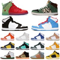 Nike SB Dunk High Running Shoes for men women Dunks Strawberry Cough Panda Vast Grey Walk The Dog Syracuse Team Green Mens Trainers Sport Sneakers