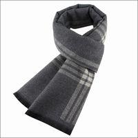 Scarves 2021 Winter Men Casual Scarf Warm Neckercheif Business Striped Kint Cashmere Wraps Male Cotton Sjaal Foulard