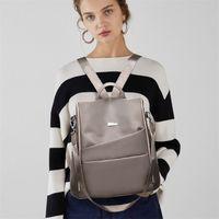 Fashion Lightweight Women's Backpack Oxford Waterproof Classic Elegant Girl Rucksack Shopping Leisure School Bag Design 211025