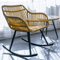 Camp Meubles Balcon Balcon Rocking Chair Ménage Salon Moderne Légère Loisirs Loisirs Loisirs Courtyard Rotin en plein air