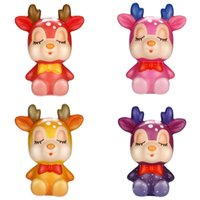 Kawaii Christmas Deer Slow Rising Cream Scented Stress Relief Toys Squishy Stress Relief Toy Funny Kids Fidget Toy 12*10 CM