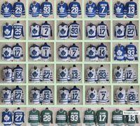 Toronto Akçaağaç Yapraklar Kış Klasik Erkekler # 7 Tim Horton 93 Doug Gilmour 27 Darryl Sittler 17 Wendel Clark 14 Dave Keon Buz Hokey Formaları