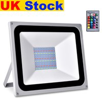 UK Stock RGB LED أضواء الفيضانات 30W 50W 100W الأضواء الكاشف AC110V / 220V IP65 إضاءة خارجية مناسبة لحضور حفل زفاف، مأدبة، حزب، مرحلة