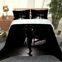 Bedding Sets 3D Beding Duvet Cover Set Black Dancer Pictures Single Double Boy Girl Bedroom Decor Quilt