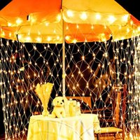 Strings 3x2m LED Net String Lights Outdoor Garden Holiday Wedding Christmas Decorations Waterproof Mesh Fairy Lamps Garland Light