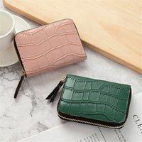 Business Card Holder Men Pu Leather Credit Card Wallet Bag Women Zipper Credit id bank Card Holder Case Coin Purse
