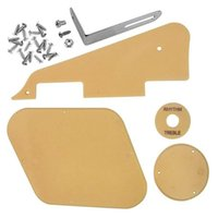 Golf Training Aids 1Set Yellow Pickguard Cavity Switch Covers Pickup Selector Plate Bracket Screws Fit Les Guitar Style Kit