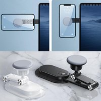 Cell Phone Mounts & Holders Portable Magnetic Notebook Computer Stand Ultra-thin Foldable Smartphone Desktop Silicone + ABS