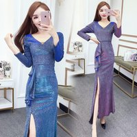 Casual Dresses Women 2021 Spring Autumn Elegant Ruffles Office Dress Female V-neck Long Sleeve Pencil Slim Bodycon Vestidos Z265