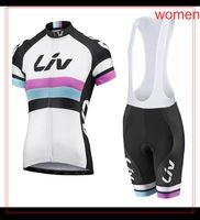 LIV Equipo de verano Mujeres Ciclismo Jersey Traje transpirable MTB Ropa de bicicleta de secado rápido Bicicleta BIB Pantalones Set Sports Uniform Y210409229