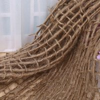 البطانيات Swaddling H05C من مواليد الدعم طبقة الخيش مكتنزة صافي هسان جوت خلفية بطانية