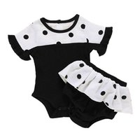 Infant Clothing Sets Rompers Girls Outfits Baby Clothes Kids Children Summer Cotton Short Sleeve Jumpsuit Shorts Pants 2Pcs 0-2T B5279