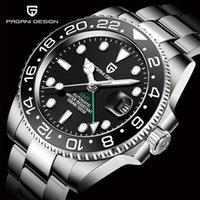 Montres-bracelets 2021 Pagani Design Hommes de luxe Mécanique Montre-bracelet de marque Saphir Saphir Saphire Steel Steel GMT Montres sans explorateur