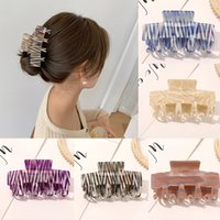 Korean Rectangle Acrylic Marble Hair Claws Clamp Cellulose Acetate Hairpins For Women Girls Hair Accessories