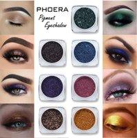 Phoera 12 colori monocromatico Shimmer Eyeshadow in polvere Glitter opaco occhio ombra ombra professionale per il trucco della parte duratura