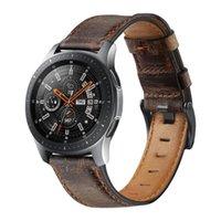 22 мм бассейна; Для Samsung Galaxy 46 мм сумасшедший кожаный ремешок для кожи S3, применимый или совместимый пограничный браслет Huaw