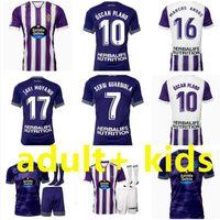 21 22 Real Valladolid Futebol Jerseys Weissman Fede S. Sergi Guardiola Óscar Plano L. Olaza R.ALCARAZ Marcos Camisetas de Fútbol 2021 2022 Homens Crianças Kit de Meia Camisa de Futebol