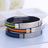 Luxury Designer Jewelry wristband Blank silicone stainless steel tag bracelet bangle cuff for women mens fashion jewelry will and sandy gift