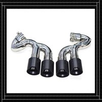Motorcycle Exhaust System One Pair Stainless Steel Silver End Tip ForB-MW X5 F15 2014-2021 Change Sport M Diffuser Carbon Fiber Pipe