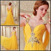 Bridesmaid Dress 2021 Luxury Rhinestone Crystal Vestidos Formal Bride Gown Purple Chiffon Yellow Long Graduation Dresses