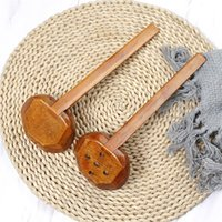 Visual Touch Multi-Use Nature Nature Wood Solid Wood Sirve Set Pierced Table Spoon Hot Pot Ramen Fideos Sopa Sopa Buffet Slotted Spoon 37 R2